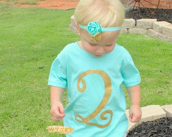 Two Shirt, 2 Year Old Birthday Shirt, Two Year Old Shirt, 2nd Birthday Shirt, Glitter Birthday Shirt, Girl Birthday Party Outfit, ©Liv & Co™