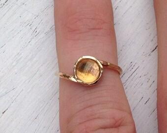 SALE Citrine ring,gold ring,citrine ring gold,dainty ring,gemstone ring,yellow citrine ring,wedding ring,gift for her ,