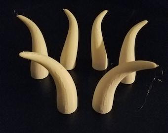 Lot of 3 Inch Bull Horns