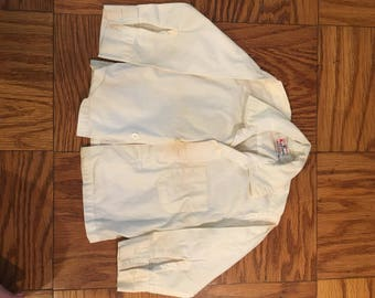 Vintage Boy's Long Sleeve Uniform Shirt