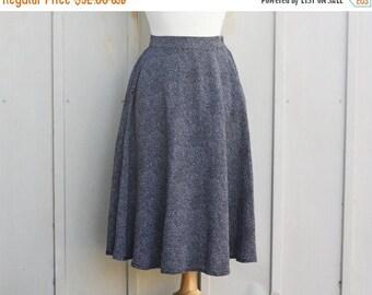 Polka Dot Skirt - Pin Up Skirt - Rockabilly Skirt - 80s Does 60s Skirt - Midi Circle Skirt - Black and White Skirt - High Waist Flare Skirt