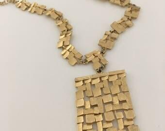 Brutalist Mid Century Modern Nugget Necklace