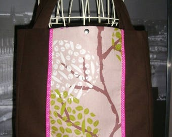 fancy bag craft making French old new pink and Brown