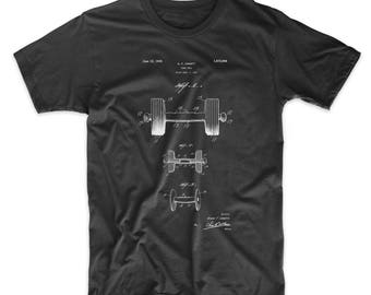 Dumbbell Patent T Shirt, Gym Shirt, Weightlifting, Body Building, Boxing Shirt, PP0314