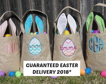 Easter basket, Personalized Easter Basket, monogram easter basket, girls basket, boys basket, girls easter basket, monogram, burlap, bunny