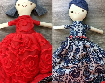 Red & Blue Topsy Turvy Doll