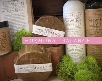 HORMONAL BALANCE Set || reduce puberty, PMS and menopause symptoms || medicinal plants in soaps and moisturizers || less stress, hot flashes