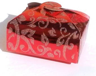 10 boxes box plastic shiny red gift bag