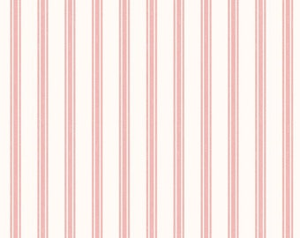 So Darling A287-3 Ticking Stripe Rose Lewis & Irene Patchwork Quilting Fabric