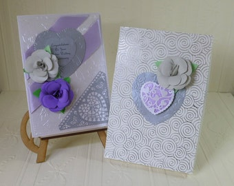 Silver Wedding Anniversary Card - Boxed and can be Personalised