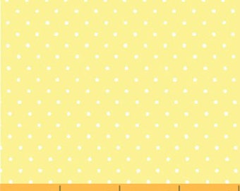 Windham Basic Pastels - Small Dot in Light Yellow / White - Pastel Basics Cotton Quilt Fabric Dots - Windham Fabrics - 29400-15 (W4175)