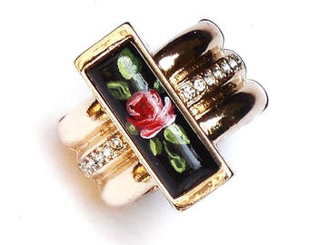 Victorian Rose Statement Ring Romantic Boho Chic Jewelry FREE SHIPPING