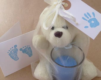 Baby Loss Comfort Bag - Cream & Blue