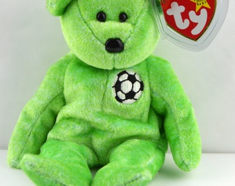 Ty Beanie Baby Kicks the Soccer Bear