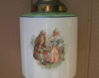 Vintage Art Deco Colonial Couples Swag Lamp Lighting Light Fixture  Hanging Lamp  Home Decor Pendant Paris Apartment Lamp