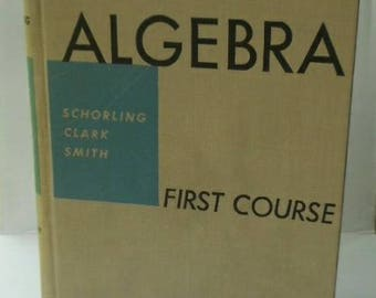 Hardbound sketchbook made from vintage algebra textbook