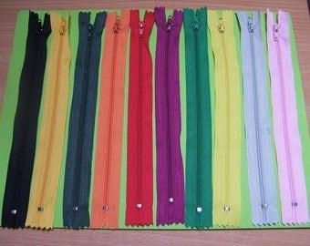 N01 zippers 20cm x 10 units, color mixed no. 1