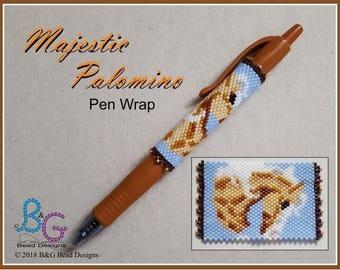 MAJESTIC PALOMINO Peyote Pen Wrap Pattern
