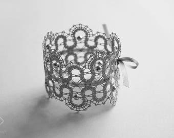 Pearl   Lace Bracelet   Wedding Bridal Jewellery   For the Bride   Handmade Bobbin Lace Jewellery