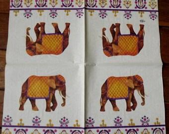 1 elephant paper napkin