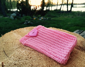 Pinky pouch, crocheted pouch, crocheted purse, makeup bag, cellphone bag, cellphone pouch, card pouch, pinky bag, fanny pouch