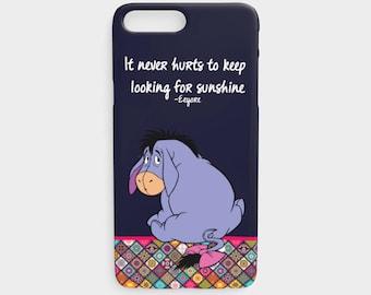 Eeyore iPhone Case, iPhone 5/5s, iPhone 6/6s, iPhone 6plus/6splus, iPhone 7/8, iPhone 7plus/8plus, winnie, Eeyore, bourriquet, disney, case