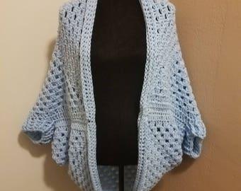 Handmade Crochet Cocoon Cardigan
