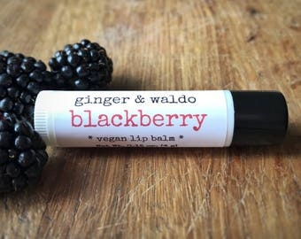 Blackberry Lip Balm - Blackberry -  Lip Balm - Vegan Lip Balm - Beeswax Lip Balm - Fresh Picked Collection