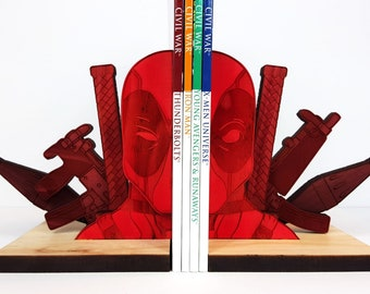 Deadpool Bookends, Red Fade, Book Ends