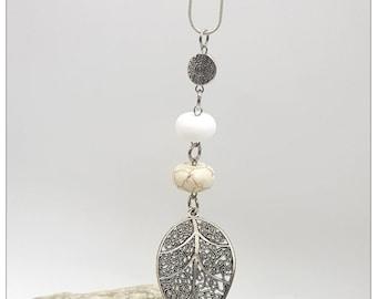Leaf Pendant Necklace, Leaf Pendant, Leaf Jewelry, Necklace for Woman, Necklace, Gift for Her, Pendant, Necklace, Jewelry, Pendant Necklace