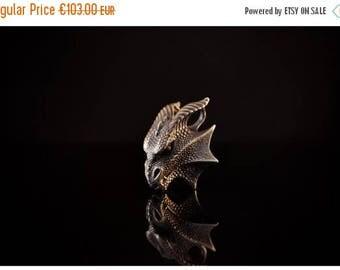 ON SALE Dragon Pendant Dragon Jewelry Silver Dragon Charm