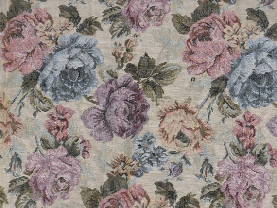 Tapestry fabric rose floral garden upholstery pillow victorian for Victorian floral fabric
