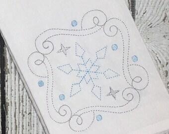 Snowflake Embroidery Design - Christmas Embroidery Design - Holiday Embroidery - Winter Embroidery - Embroidery Design - Sketch Embroidery