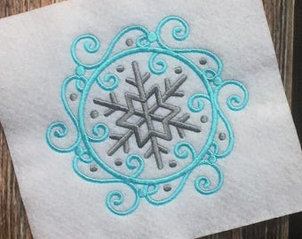 Snowflake Embroidery Design - Christmas Embroidery Design - Holiday Embroidery - Winter Embroidery - Embroidery Design