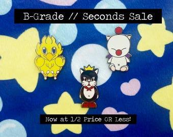 B-Grades Seconds Sale Final Fantasy Chocobo Cait Sith Moogle Hard Enamel Lapel Pin Badge