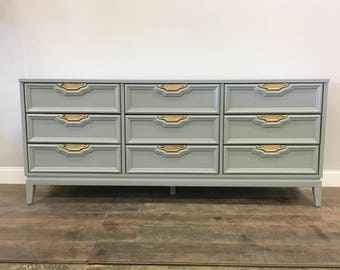 AVAILABLE: Grey Lacquer Dresser