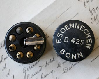 F. Soennecken Bonn D425 Nibs Steel Dip Fountain Pen Nib for Ink Calligraphy Bakelite Box