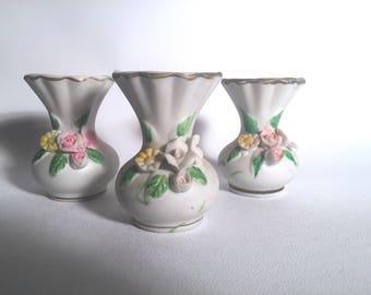 Floral Bud Vase Trio