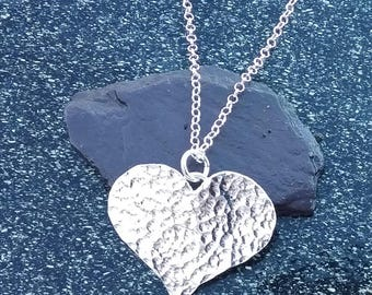 Sterling Silver Pendant, Silver Pendant, Silver Heart Pendant, Heart Pendant, Heart Necklace, Silver Heart Necklace