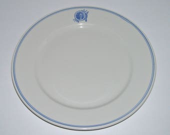 Vintage Restaurant Ware Plate Native American Indian Logo Jackson China