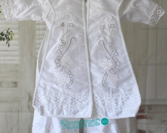 Boy Baptism gown/Christening Baptism gown/Boy Baptism Jumper/ Christening Baptism jumper/ Mateo 617328
