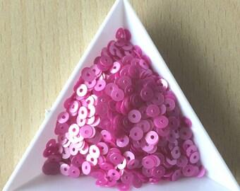 Medium pink glitter satin 4 mm in bulk