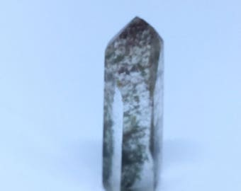 "Mini Lodolite Chlorite Inclusion Quartz Crystal Point 1.5"" 9g 17SB101"