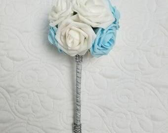 Custom Bridal bouquet, simple bridal bouquet, custom bridal bouquet, Ivory bridal bouquet, budget bridal bouquet, wedding bouquet