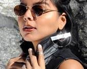 THE KIM EARRINGS| Silver hoops, Silver Earrings, Large Hoops, Large Earrings, Small Hoops, Fashion Jewelry, Handmade Jewelry, Silver, Harlem
