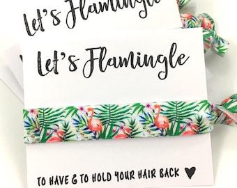 Bachelorette Party Hair Tie Favors | Bachelorette Favors | Flamingo | Palm Trees | Bridesmaid Gift | Summer Bachelorette |Beach Party