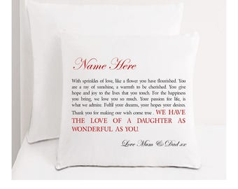 Personalised Daughter Cushion