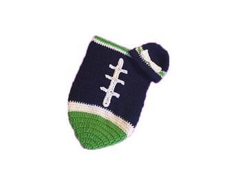 Seattle Fan Favorite Baby Girl Football Cocoon & Hat (Newborn to 3 months)