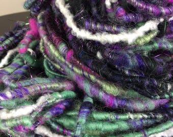 Art Yarn, Yarn, Bulky, Wool, Knitting, Crochet, Weaving, Merino, Handspun, Hand Spun, Luxury Fiber, Fibre,