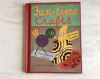 Vintage 1949 Fun Time Crafts Book For Children